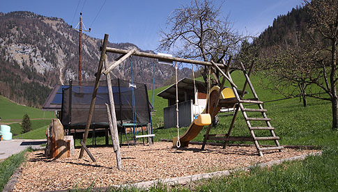 Playground - Guesthouse Gasthof Gwercherwirt in Brandenberg in the Alpbach valley Seenland Tyrol